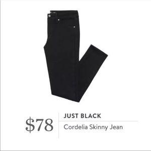 30 nwt Just Black Stitch Fix Cordelia Skinny Jeans